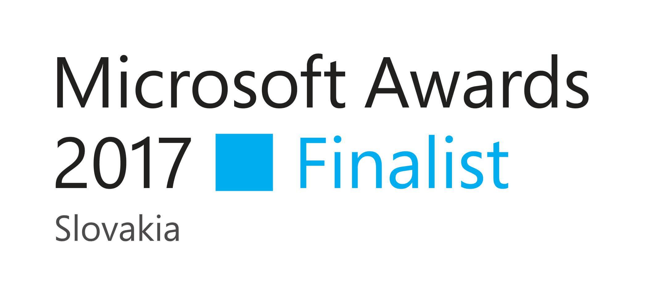 Microsoft Award 2017 - Finalist