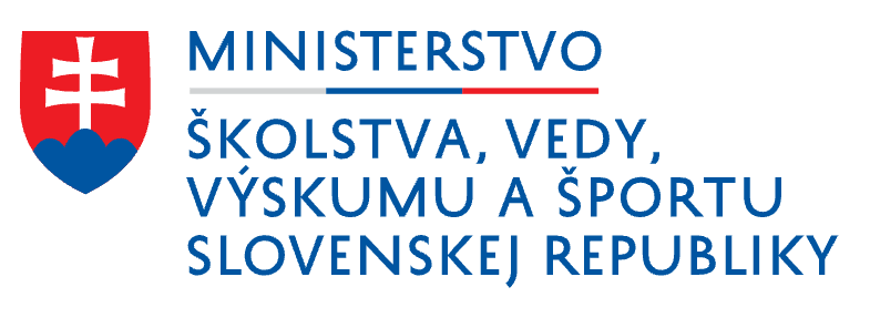 The Ministry of Education, Science, Research and Sport of the Slovak Republic logo
