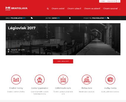 Web portal for Bratislava City