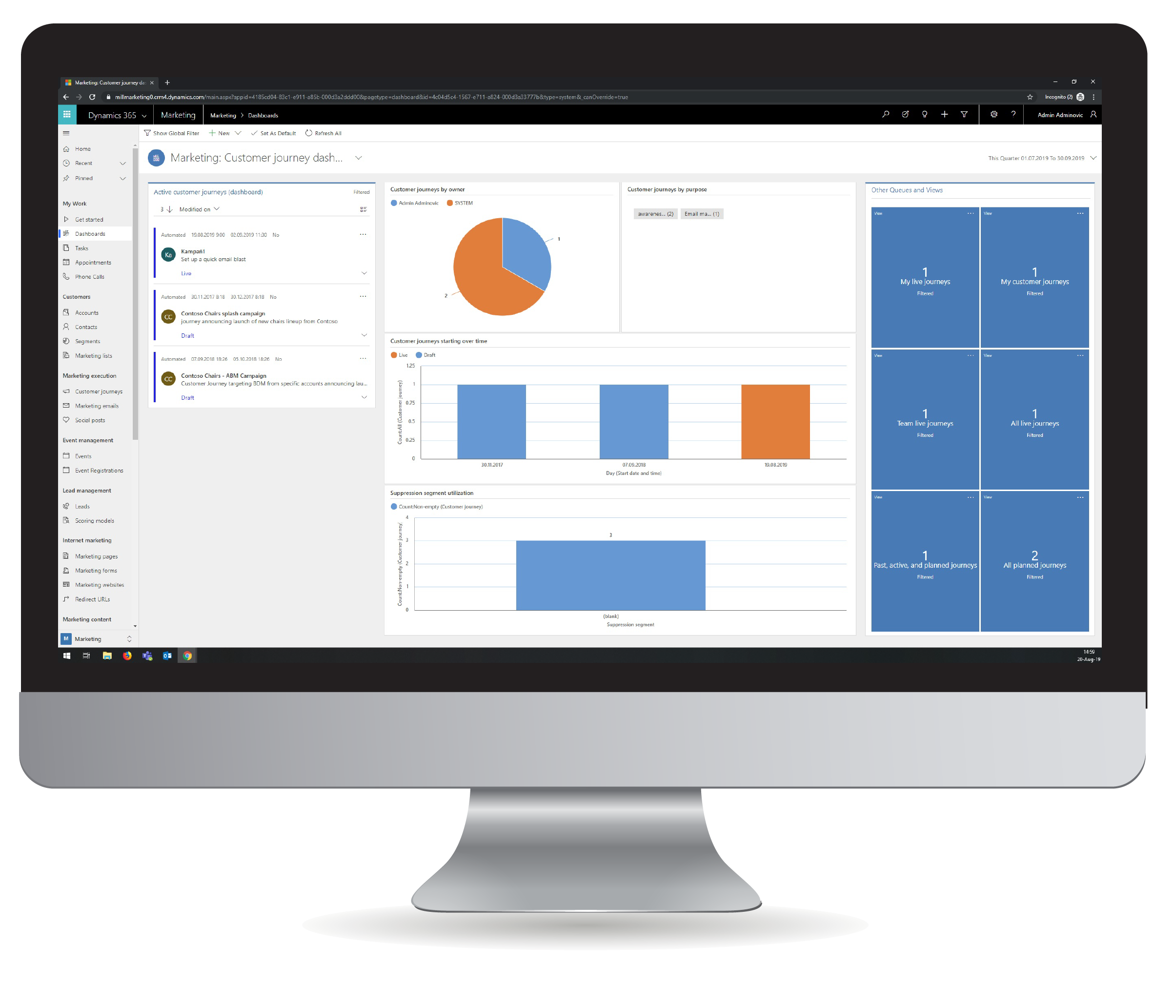 Dynamics 365 dashboards