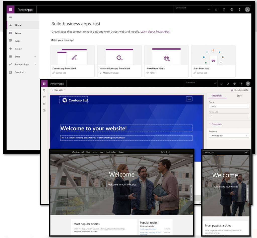Microsoft PowerApps portal1